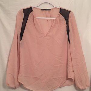 ZARA Basic Light Pink Blouse